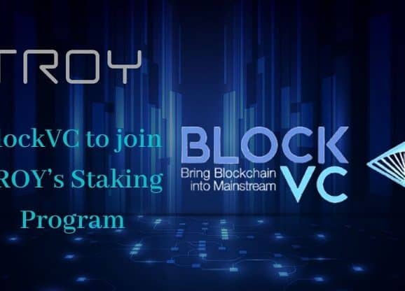 BlockVC to join TROY's Staking Program